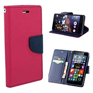 Majesty Wallet Style Flip Cover for Microsoft Lumia 950 - Pink