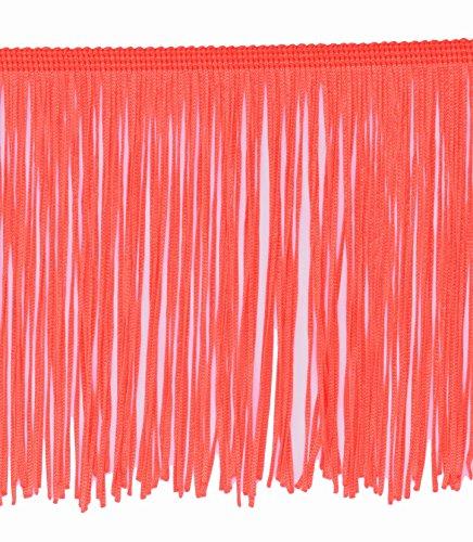 15cm Fransenborte Tanzfransen, Charlestonfransen - Fransen mit Laser geschnitten gegen Ausfransen (hummer-neon)