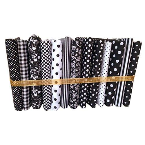 lafyHo 13pcs 50x50cm Série Noire Coton Couture Tissu Poupées Porte-Handwork Bricolage Patchwork Tissu