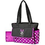 Disney Minnie Mouse bolsa de pañales y cambiador–lunares, bolsa de viaje ligero, bolsillos para botellas de bebé