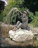 Bronzefigur wasserspeiend Skulptur echte Handarbeit Gartenskulptur Gartenfigur Garten-Statue