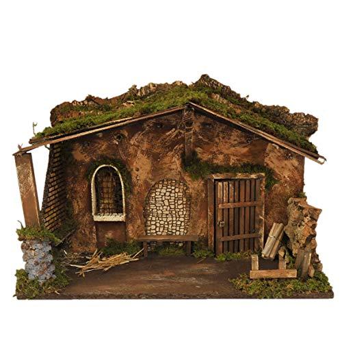 Rossi Rosa Art Code-87363 Hütte mit Licht, 50 x 26 x 35 cm, Mehrfarbig