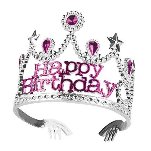 erdbeerclown - Haarreif Prinzessin Kostüm Geburtstagskind, Pink