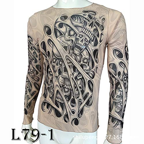 Of 1 War Kostüm God - tzxdbh Tattoo Tattoo Langarm T-Shirt Damen Fan Digitaldruck Hemd Musik Festival Kostüm L79-1 170CM-182CM 60KG-110KG