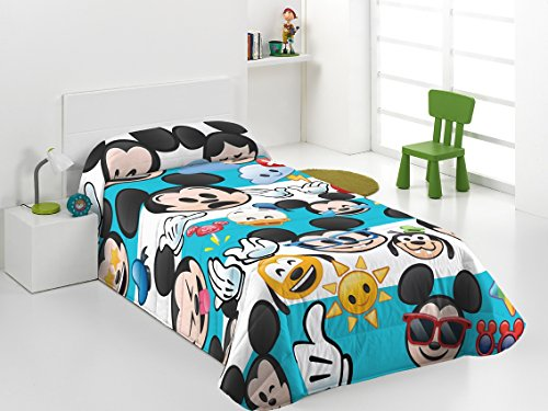 (Disney Emoji Bettdecke Winter Mickey Emoji 280 Gramm 180 x 260 cm)