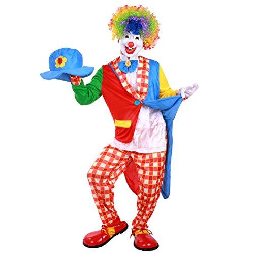 LUOEM Disfraz de payaso de carnaval Disfraz de payaso de halloween para adultos