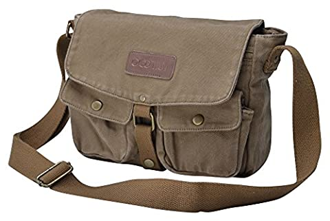 Gootium 30624AMG Vintage Canvas Messenger Bag Men's Crossbody Bag,Army Green