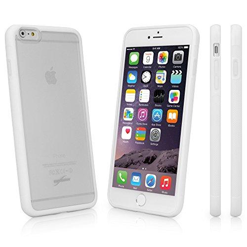 BoxWave Étui iPhone 6Plus Coque, BoxWave Étui imprimé-Design Dual Tone coque en TPU pour protection durable antidérapant, avec arrière mat transparent avec bordure solide-iPhone 6P