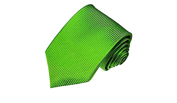 Lorenzo Cana Luxury Italian 100/% Silk Tie Green Applegreen Woven Handmade Necktie 36054