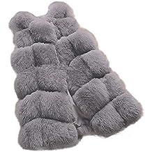 Linlink Moda Mujer Chaleco de Chaleco Caliente Abrigo Chaleco Chaqueta de Piel de imitación Abrigo sintética
