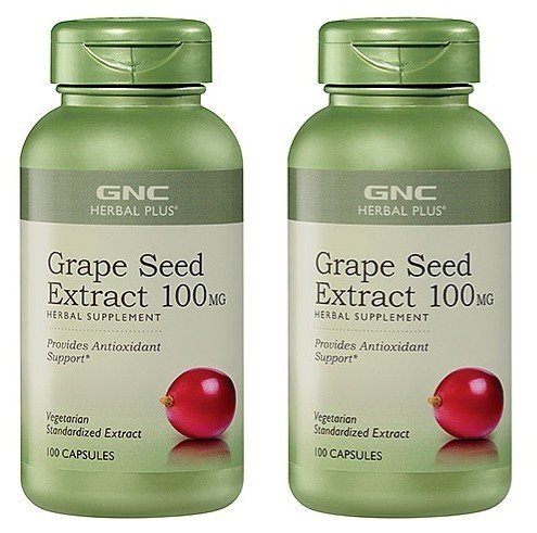 gnc-grape-seed-extract-100mg-2-bottles-each-of-100-caps-by-herbal-plus
