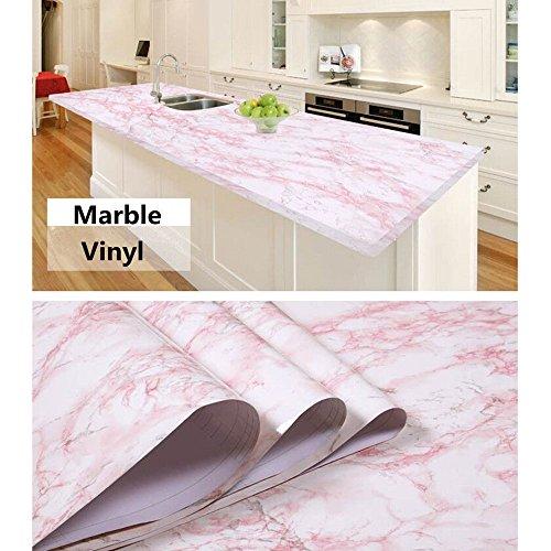 hoho-pink-self-adhesive-marble-contact-paper-film-vinyl-decor-wallpaper-sheets-48x12