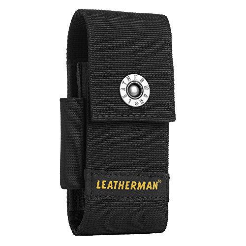 Leatherman 934932 Medium Nylon sheath-with Taschen, schwarz (Kit Nylon-scheide)