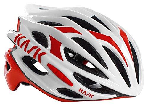 Kask Unisex CHE00044  Mojito16 Helm,  mehrfarbig(weiß / rot),59 - 62 cm (L)