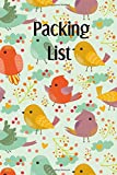 Packing List: Packing List Checklist Manifesto Trip Planner Vacation Planning Adviser Itinerary Travel Diary Planner Organizer Budget Notes size 6*9 inches 95 Pages (Seamless Vintage 5): Volume 5