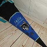 #209 Schultüte Panther, Zuckertüte Schultüte Stoff + Papprohling + als Kissen verwendbar