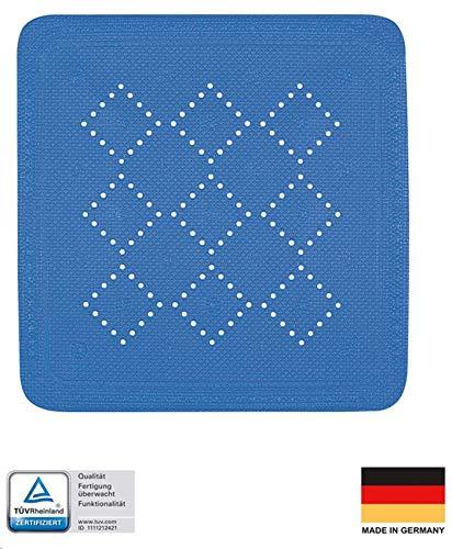 Spirella Duschmatte Badematte Duscheinlage antibakteriell Rutschfest mit Saugnäpfen - Alaska Blau - ca. 55 x 55 cm