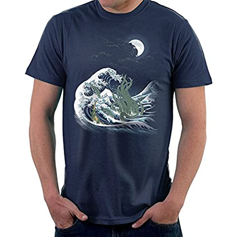 The Wave Off R Lyeh The Call Of Cthulhu H P Lovecraft Great Wave Of Kanagawa Men's T-Shirt