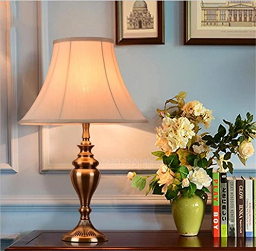 WILK A Tischlampe EuropäIschen Stil Lampe Schlafzimmer Nachttischlampe  Retro Amerikanischen Wohnzimmer Studie Schmiedeeisen Lampe