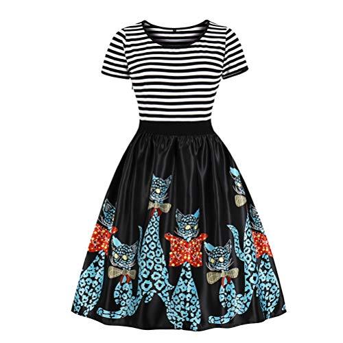 Bluelucon Weihnachtenkleid Damen Elegant Abendkleid Vintage Weihnachten Party Kleid Mesh Brautkleid...