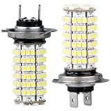 TOOGOO(R) 2x H7 120 3528 SMD LED Scheinwerfer Weiss Auto KFZ Leuchte Birne Lampe DC 12V