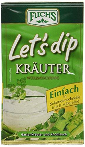 Fuchs Let's dip Kräuter 5er Pack (5 x 12,5 g)  mit Gartenkräutern und Knoblauch