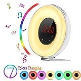BOSCHENG Sunrise Alarm Clock, Boscheng Wake Up Light Sunrise Simulator Daylight Alarm Clock