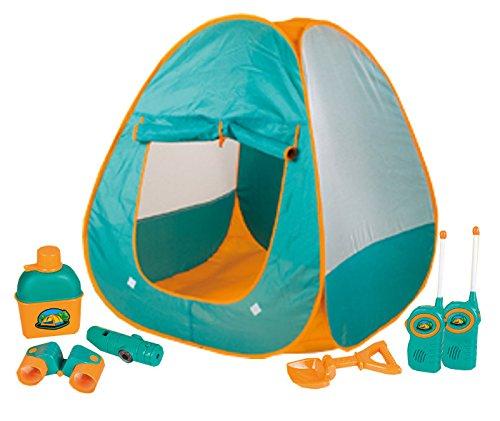 Inside Out Toys - Camping-Set zum Spielen für Kinder - Abenteuer - Pop-Up-Zelt mit 6 Zubehörteilen