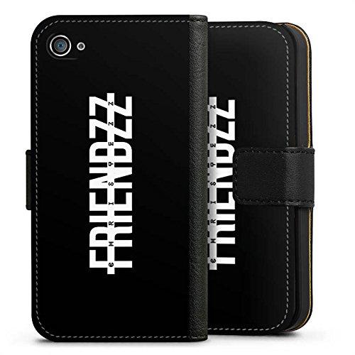 Apple iPhone X Silikon Hülle Case Schutzhülle Christezz Fanartikel Merchandise FRIENDZZ Sideflip Tasche schwarz