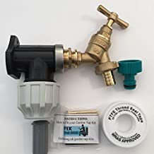 FixtheBog MDPE, 25 mm, Kit per rubinetto da esterni, da parete, in plastica, con raccordi per tubo flessibile da giardino &