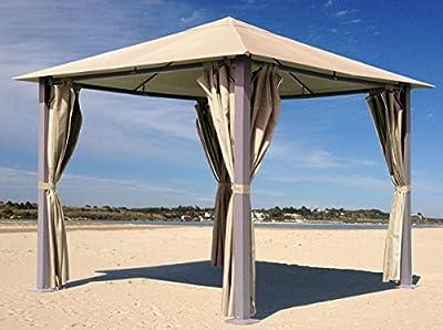 4 Seitenteile zu Pavillon Paris 3x3m Sand von Grasekamp bei Gartenmöbel von Du und Dein Garten