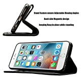 MobileConnect4U Black PU Leather Wallet/Flip Case For iPhone 5/5S With Screen Protector And Stylus Bild 2