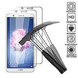 EJBOTH 2 x Huawei P Smart Verre trempé Protecteur d'écran, téléphone Protection écran Haute définition cribler des Films protecteurs pour Huawei P Smart.