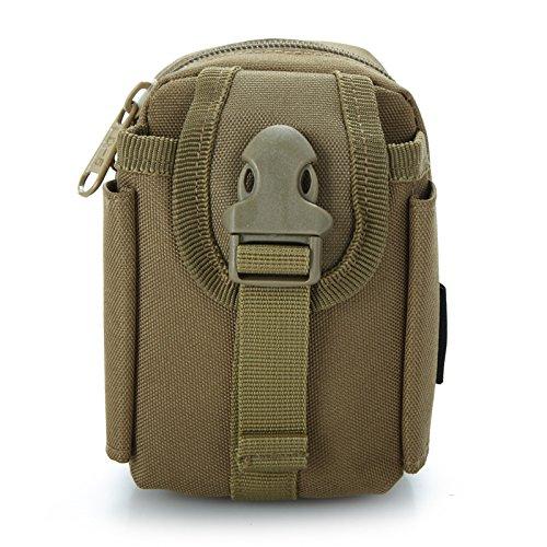 OOFAY® Outdoor Sport Shop Geldbörsen Stealth-kleine persönliche Brieftaschen Pass Sicherheitspaket (Khaki)