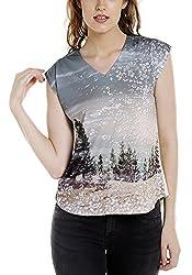 Spykar Womens Cotton Off White Regular Fit Tshirts (Medium)