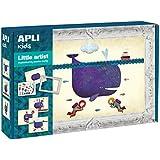 APLI Kids - Juego con gomets, para crear cuadros con elefante, ballena o gato (13953)