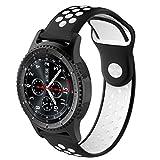 squarex mit Soft-Silicagel Watchband Armband für Samsung Gear S3Frontier Smartwatch, Damen, B, AS Show