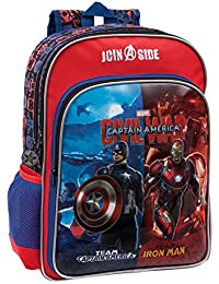 Marvel 2642451 Civil War Mochila Escolar, 15.6 Litros, Color Rojo