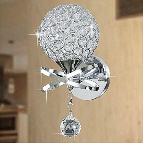 Moderne Deko-Wandleuchten Kristall Hängeleuchte mit Zugschnur Schlafzimmer Gang Wohnzimmer Wandlampe Halter E27 Wandleuchtenhalter Beleuchtung für Home Decor Badezimmer Flur - Kristall Wandleuchte Beleuchtung
