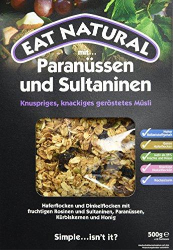 Eat Natural Müsli mit Paranüssen & Sultaninen, 1er Pack (1 x 500 g)