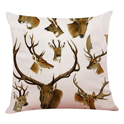 Epigeon Wildlife Animal Deer Home Couch Sofa dekorative Baumwolle Leinen Taille lumbalen Dekokissen Fall Kissenbezug Platz 18 Zoll - Deer Dekorative Kissen