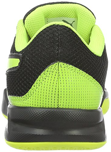 Puma Evoimpact 5.2 Jr, Chaussures de Football Mixte Enfant Noir (Black-safety Yellow 01)
