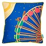 "Chumbak Gaint Wheel Cotton Cushion Cover - 16"" X 16"", Multicolor"