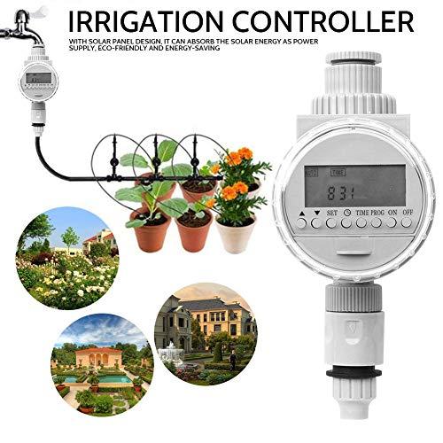 Bewässerung Controller, Solar Digital LCD Auto Bewässerung Timer Wassereinsparung Bewässerung Controller Gartenwerkzeug