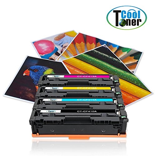 Compare Prices for Cool Toner 8 Pack Compatible Toner Cartridge for 2*CF410X 2*CF411X 2*CF412X 2*CF413X 410X XL for HP LaserJet Pro MFP M477 M477fdw M477fdn M477fnw M377dw,HP LaserJet Pro M452 M452dw M452nw M452dn, Black – 6,500 Pages, Colour – 5,000 Pages on Amazon