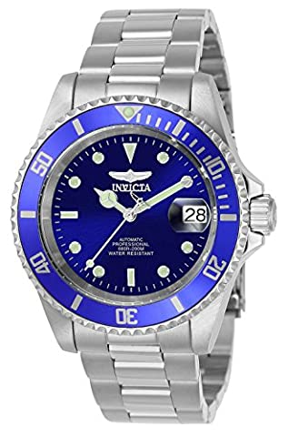 Invicta Men's Automatic Watch with Blue Dial Analogue Display and Silver Stainless Steel Bracelet 9094OB - Automatico Blu Mens Watch