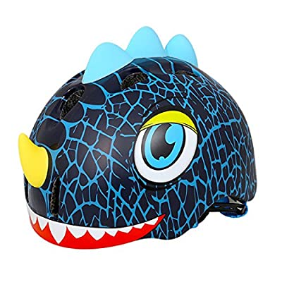 Sunbo Boy Girl Cycling Helmet With Adjustable Headband Dinosaur Style For Sports