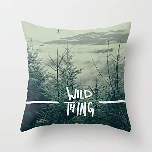 Zierkissenbezüge, Throw Pillow Covers, Wild Thing Skagit Valley WashingtonCushion Covers 45cm x 45 cm Canvas Throw Pillow Covers with Zip Pillow Cases 18x18 for Living Room Home Decor