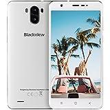 Smartphone ohne Vertrag, Blackview R6 Lite 3G Dual SIM Smartphone mit 5,5 Zoll QHD IPS Display - Android 7.0 Handy - MTK6580 Quad Core 1.3GHz - 3000mAh Großer Akku - 2MP + 8MP Kamera - 16GB ROM - Weiß