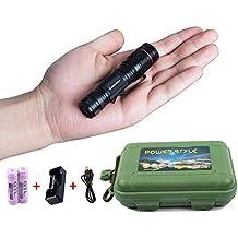 Mini Torcia Ricaricabile Led Alta Potenza - Tattica Militare Zoomable Impermeabile Flashlight Kit con Clip, con Batteria 14500 e USB Caricabatterie, 450 Lumen